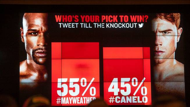 Floyd Mayweather Jr. and Canelo Alvarez arrive at MGM Grand ...