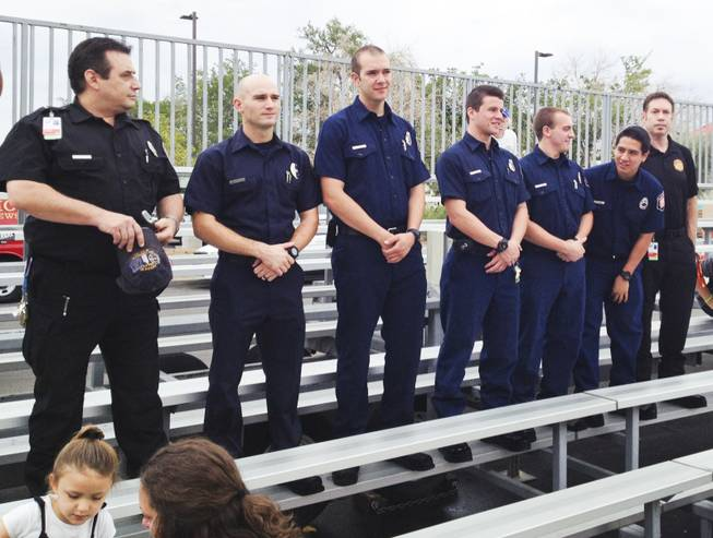 More than 100 firefighters, police officers and residents attended a local remembrance and tribute to the victims of the Sept. 11 terrorist attacks at Las Vegas Fire Station Five Wednesday, Sept. 11, 2013.