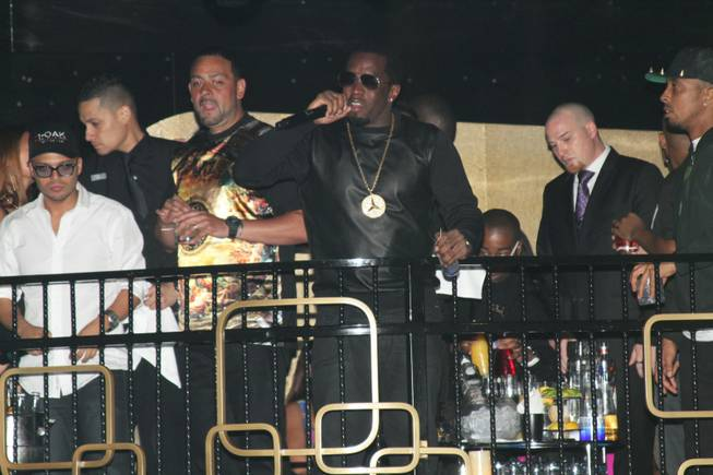 Diddy performs at the Bank in Bellagio.