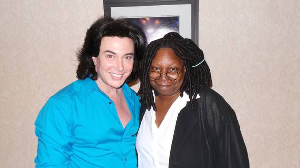 Frank Marino and Whoopi Goldberg at Treasure Island.