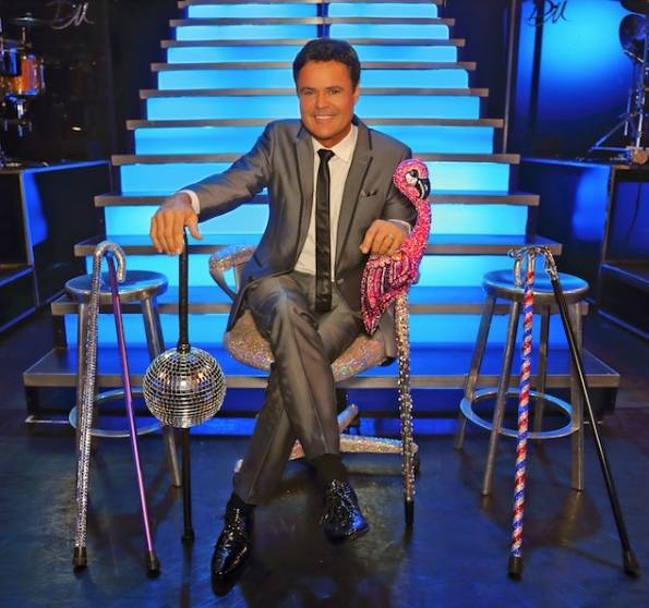 While on the mend, Donny Osmond has been performing at Flamingo Las Vegas with this assortment of canes.