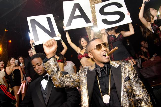Nas celebrates his 40th birthday weekend at Tao in the ...