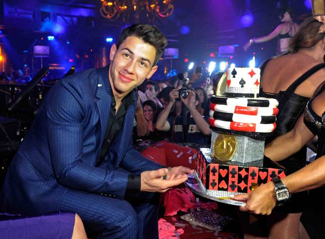 Nick Jonas celebrates his 21st birthday at XS in Encore ...