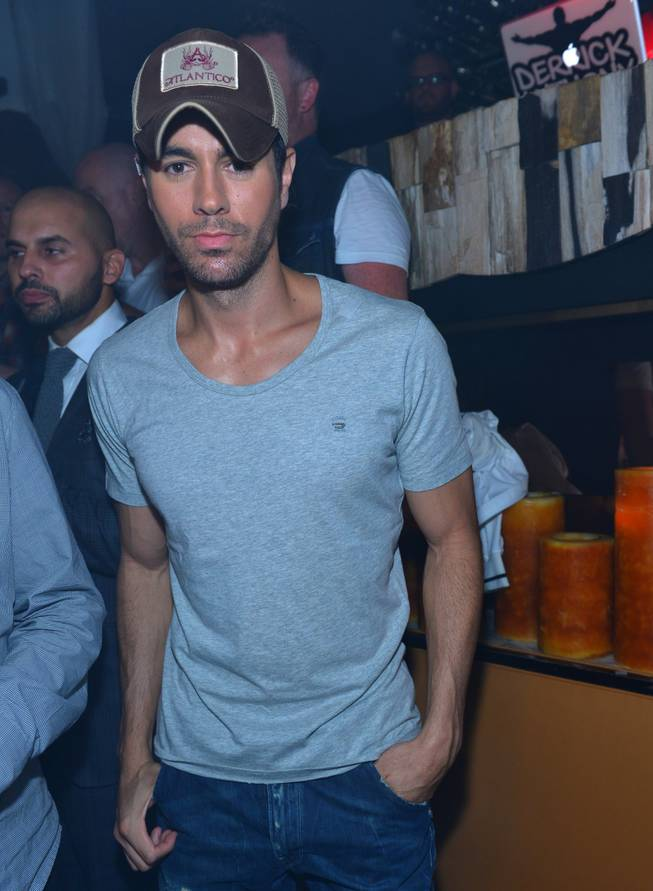 Enrique Iglesias parties at Hyde Bellagio on Saturday, Sept. 14, 2013.