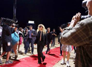 "Britney Spears on ABC's ""Good Morning America"" at Jean Dry Lake Bed in Jean, Nev., early Tuesday, Sept. 17, 2013."