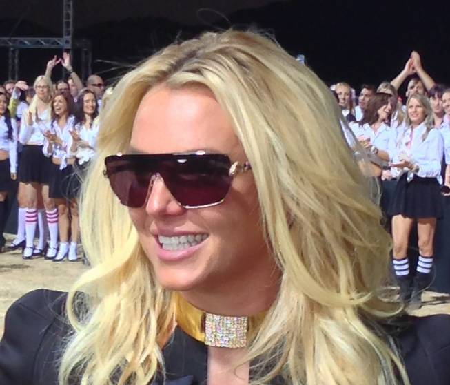 Britney Spears at Jean Dry Lake Bed in Jean, Nev., early Tuesday, Sept. 17, 2013.