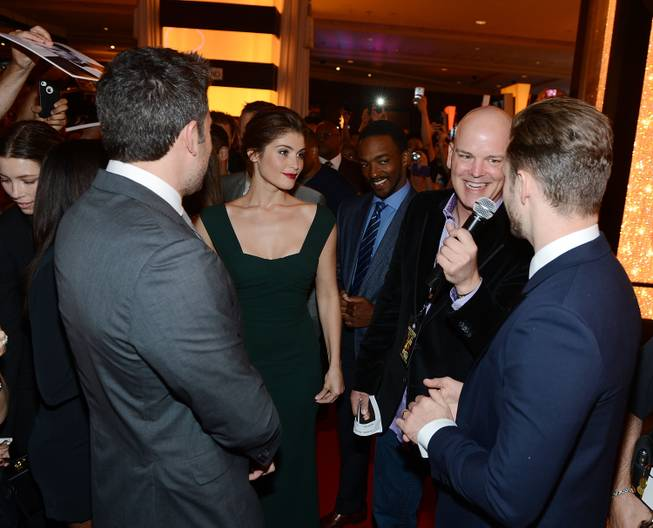 Ben Affleck, Gemma Arterton and Justin Timberlake are interviewed by ...