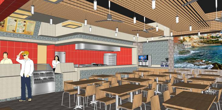 A rendering of the Crazy Pita coming to Town Square in the Fall of 2013.