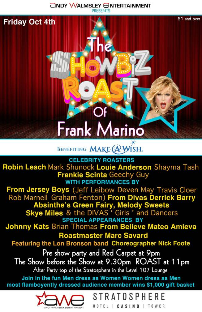 """Showbiz Roast"" with Frank Marino."