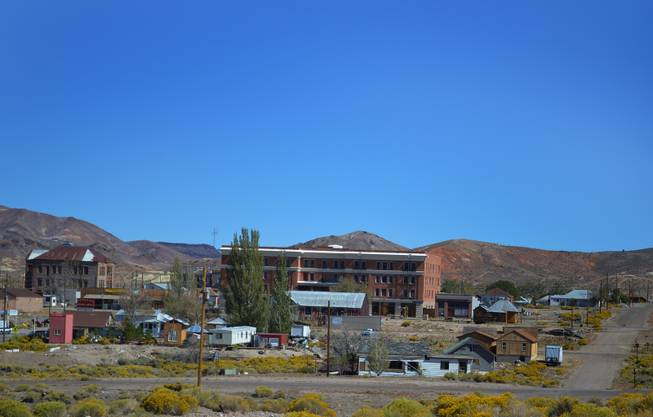 The Goldfield Hotel was once the gem of the desert, an opulent palace with mahogany trimming. Today, it sits unoccupied.