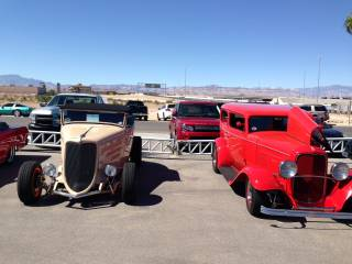 Barrett-Jackson Collector Car Auction vehicles for Keep Memory Alive at Gaudin Ford in Las Vegas.