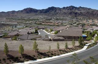 A view of the Tuscany Retreat development in Boulder City Monday, Sept. 23, 2013.