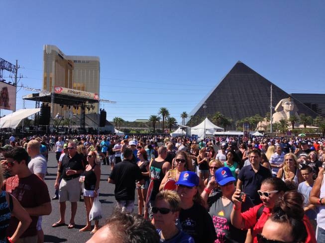 A view of the Strip from the Lot during the Village showcase or the iHeartRadio Music Festival on Saturday, Sept. 21, 2013.