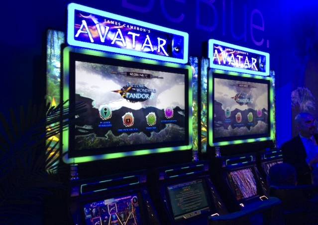 New Avatar slot machine at the 2013 G2E convention.