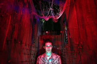 Hauntrepreneur Jason Egan stands inside Fright Dome that he designed at Circus Circus in Las Vegas on Thursday, Sept. 26, 2013.