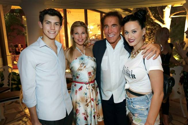 Nick Hissom, Andrea Wynn, Steve Wynn and Katy Perry at Botero and XS in Encore.