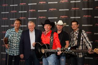 Clay Walker, center, and his band at the 2013 Barrett-Jackson Collector Car Auction at Mandalay Bay.