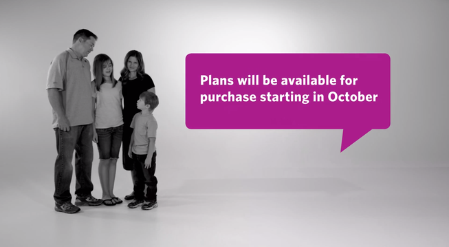 Screenshot from a pro-Obamacare advertisement.