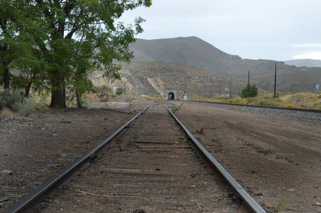 An old railroad track remains next to the current track in what used to be the town of Palisade, which is south of Carlin off of Highway 278. Palisade was a railroad town founded in the 1800s, but today it is a ghost town with few visible remains. The photo was taken on Sept. 29, 2013.