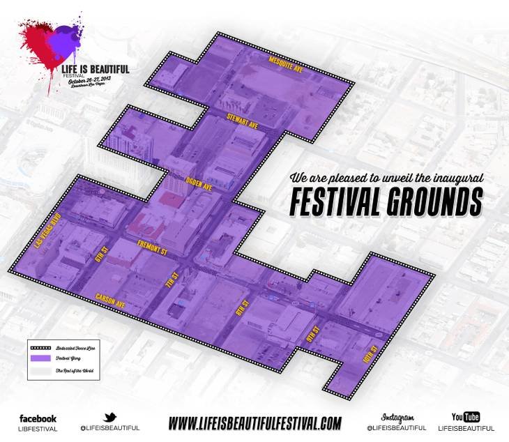 Life Is Beautiful Festival Map