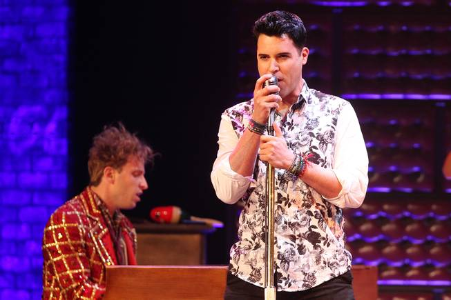 Frankie Moreno joins the Million Dollar Quartet show at Harrah's as a special guest Tuesday, Oct. 1, 2013.
