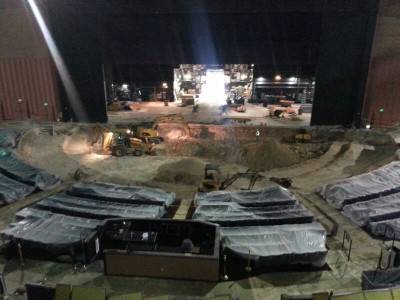 Britney Spears' new theater under construction at Planet Hollywood in September 2013.