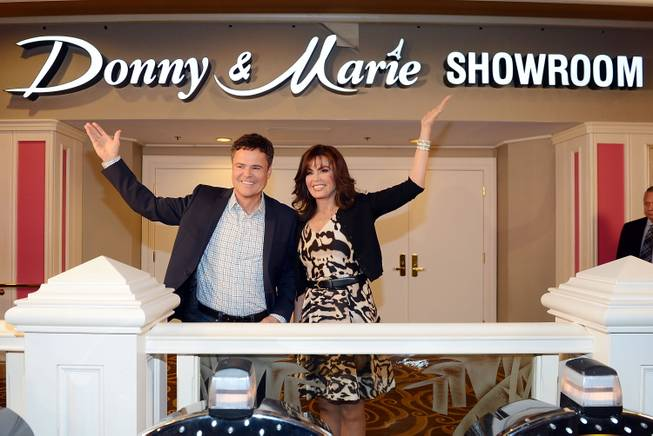 Donny Osmond and Marie Osmond celebrate the renaming of their ...