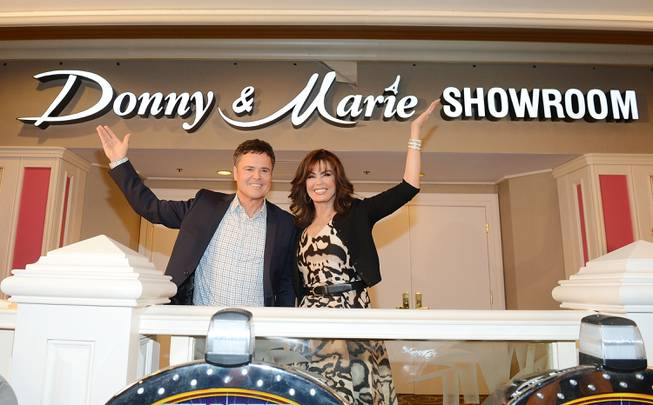 Donny Osmond and Marie Osmond celebrate the renaming of their showroom to Donny & Marie Showroom at Flamingo Las Vegas on Wednesday, Oct. 2, 2013.