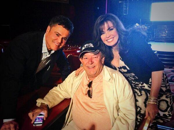 Donny Osmond, Robin Leach and Marie Osmond at Flamingo Las Vegas on Wednesday, Oct. 2, 2013.