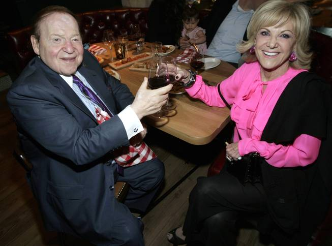 Sheldon Adelson and Elaine Wynn at Buddy V's Ristorante in Palazzo on Sunday, Oct. 6, 2013.