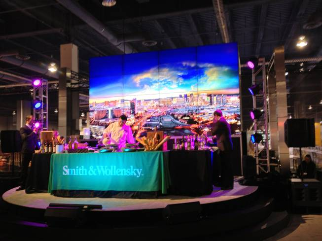 Restaurants gave cooking demonstrations at the Las Vegas booth at World Routes 2013 on Oct. 6, 2013.