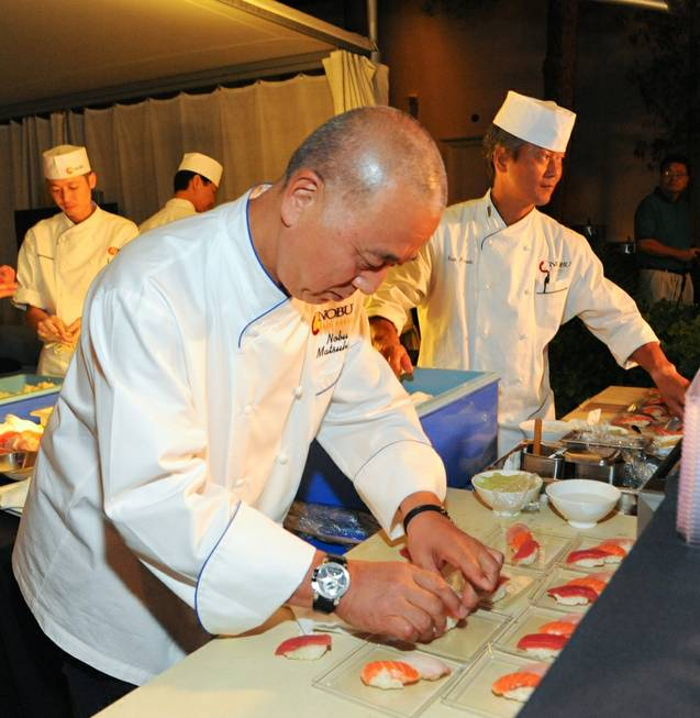 """A Night of Cocktails and Canapes"" with chef Nobu Matsuhisa ..."