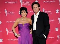 Kris Jenner and husband Bruce Jenner at the 44th Annual Academy of Country Music Awards on April 5, 2009, in Las Vegas.