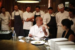 2013 Nobu United at Nobu Caesars Palace on Wednesday, Oct. 9, 2013, with chef Nobu Matsuhisa and his U.S. chefs.