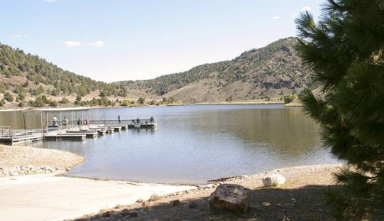A boat ramp, a picnic area and two campgrounds with a total of 44 campsites are available at the park nestled in a pinyon pine forest, Saturday, Oct. 12, 2013