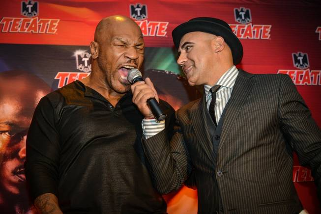 Mike Tyson hosts a pre-fight party Friday, Oct. 11, 2013, ...