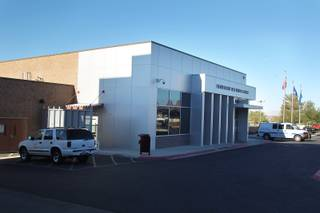 This is the entrance to the Henderson Detention Center Oct. 16th, 2013.