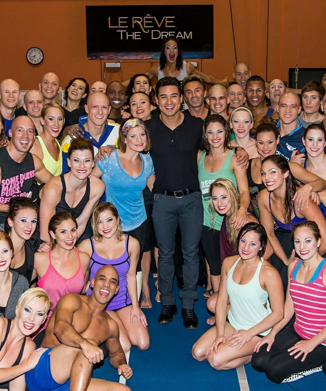 "Mario Lopez at ""Le Reve — The Dream"" on Friday, Oct. 11, 2013, in the Wynn."