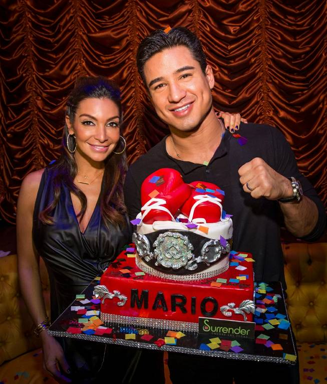 Mario Lopez and Courtney Mazza Lopez celebrate their 40th and 32nd birthdays, respectively, at Surrender on Friday, Oct. 11, 2013, in Encore.