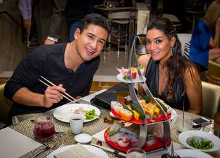 Mario Lopez and Courtney Mazza Lopez celebrate their 40th and 32nd birthdays, respectively, at Botero on Saturday, Oct. 12, 2013, in Encore.