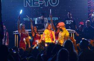 Ne-Yo celebrates his 31st birthday at Andrea's and Surrender on Wednesday, Oct. 16, 2013, in Steve Wynn's Encore.