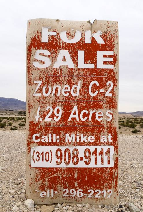 Las Vegas' Bermuda Triangle of empty land for sale.