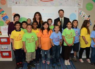 Caesars Palace headliner Shania Twain visits her Shania Twain Clubhouse in Las Vegas on Monday, Oct. 21, 2013, as part of her Shania Kids Can Foundation.