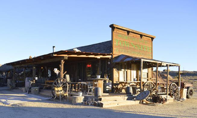 The saloon in Gold Point, which is south of Goldfield, NV, Tuesday, Oct. 22, 2013. The town has 10 year-round residents, if you count three who live outside of what's considered town limits.