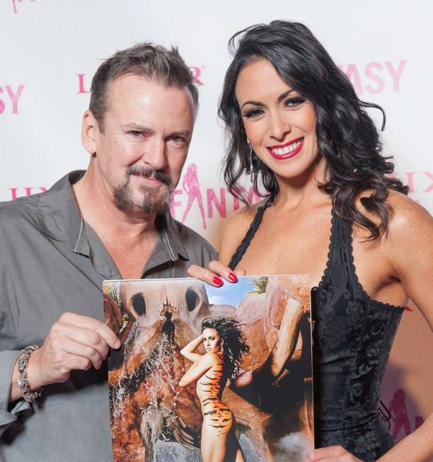 "Troy Burgess and Yesi attend the 2014 ""Fantasy"" calendar-release party ..."