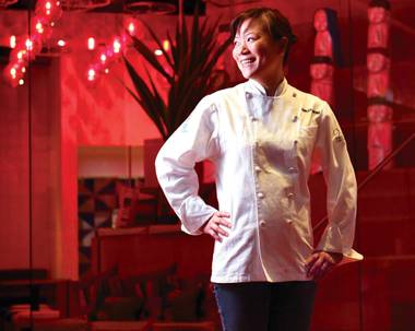 "Dinner at ""Top Chef"" contestant Shirley Chung's new Restaurant 28 in Irvine, Calif., is worth every moment of the journey. The former Las Vegas chef jumped from relative anonymity here to national fame as a finalist on Season 11 of the hit Bravo cooking challenge."