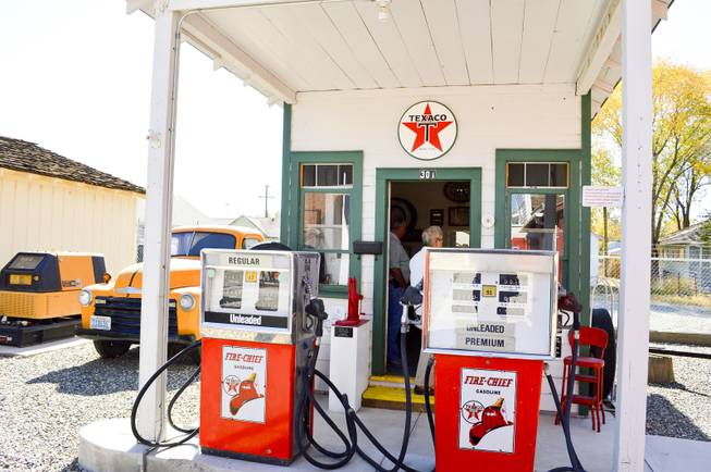 This Texaco gas station was owned by the Hillygus family in Yerington from 1940 until 2002. It now stands at the Lyon County Museum. The Hillygus family donated it to the museum.