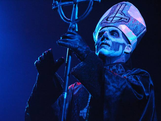 Ghost BC opens for Avenged Sevenfold at Mandalay Bay Events Center on Saturday, Oct. 26, 2013, in Las Vegas.