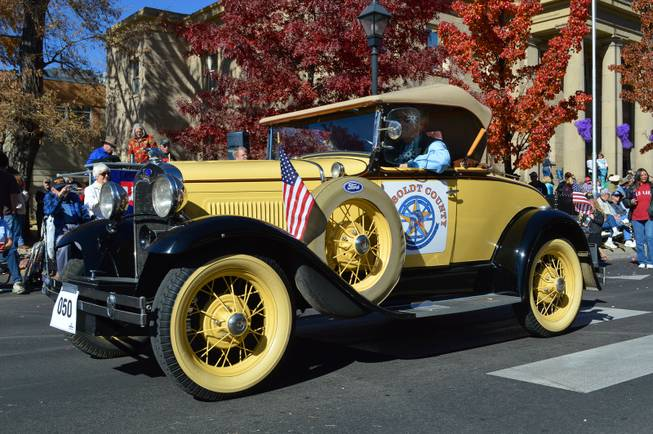 A Model A from Humboldt County rides in the annual Nevada Day parade in Carson City on Oct. 26, 2013.