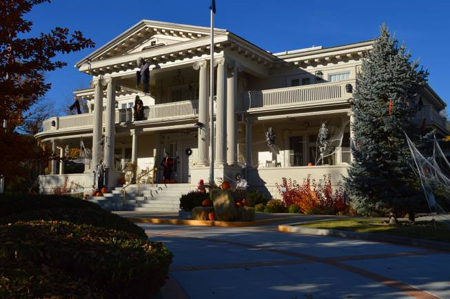 The Governor's Mansion in Carson City, seen on Oct. 26, 2013,  is ready for Halloween.